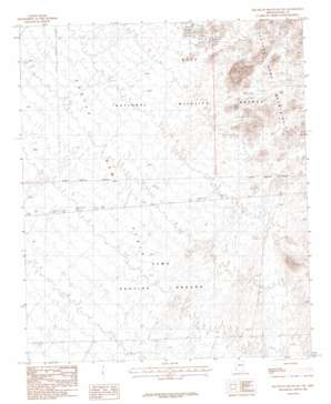 Red Bluff Mountain Nw topo map