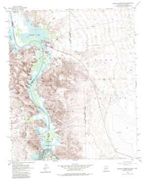 Imperial Reservoir topo map