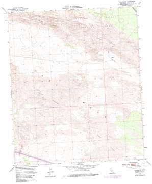 Glamis Sw topo map