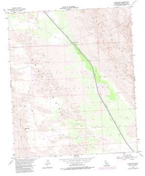 Glamis Nw topo map