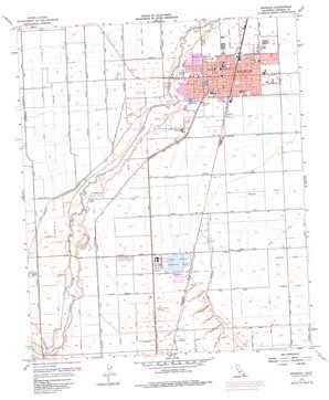 Brawley topo map