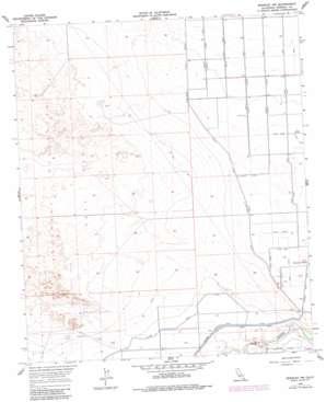 Brawley Nw topo map