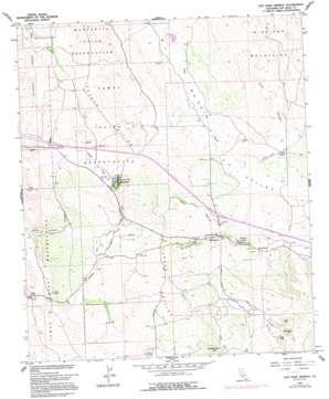 Live Oak Springs topo map