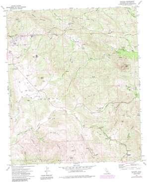 Dulzura topo map