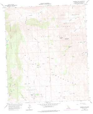 Sombrero Peak topo map