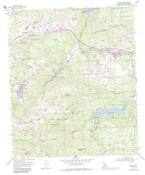 Alpine topo map