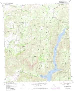 El Cajon Mountain topo map