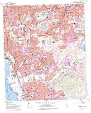 National City topo map
