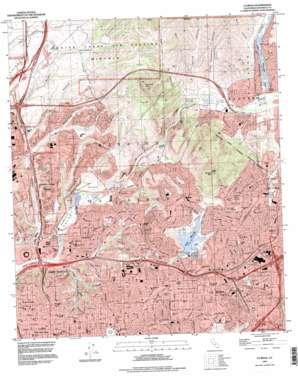 La Mesa topo map