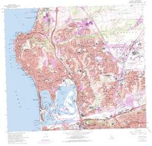 La Jolla topo map