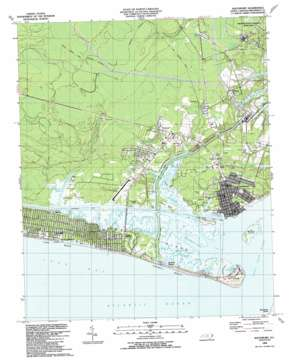 Southport topo map