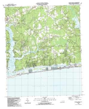 Holden Beach topo map
