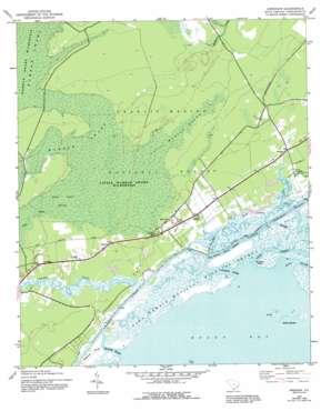 Awendaw topo map