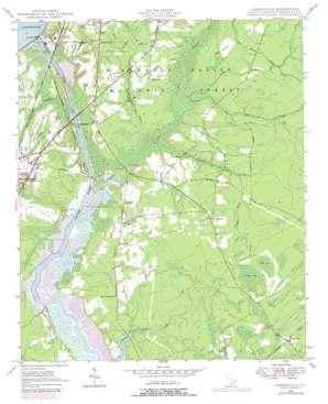 Cordesville topo map