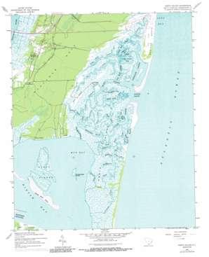 North Island topo map