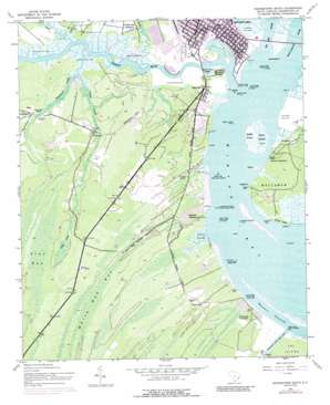 Georgetown South topo map