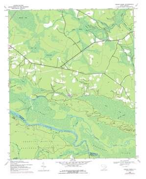 Cedar Creek topo map