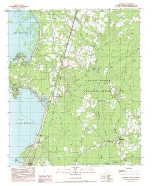 Bonneau topo map