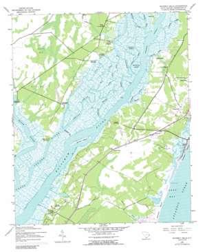 Waverly Mills topo map