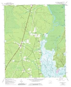 Plantersville topo map