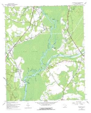 Bucksville topo map