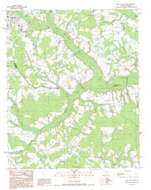 Lake City East topo map