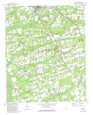 Horry topo map