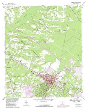Summerville topo map