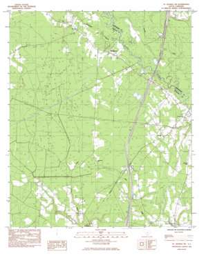 Saint George Sw USGS topographic map 33080a6