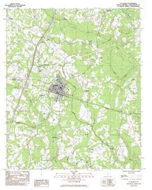 Saint George topo map