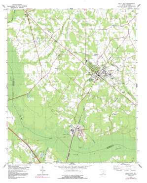 Holly Hill topo map