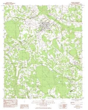 Bowman topo map