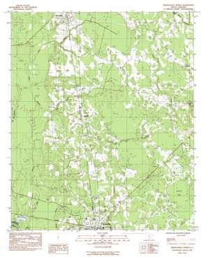 Branchville North topo map