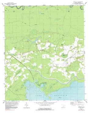 Pineville USGS topographic map 33080d1