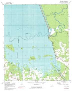 Eadytown topo map