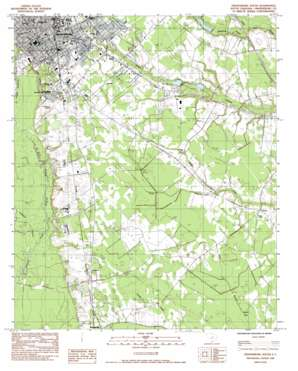 Orangeburg South topo map