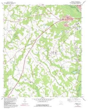 Cordova topo map