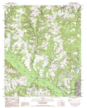 Wolfton topo map