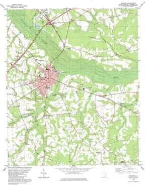 Manning topo map