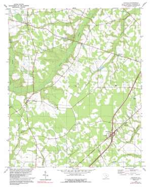 Paxville topo map
