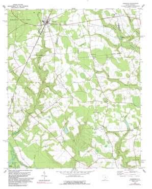 Pinewood topo map