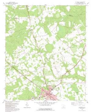 Allendale topo map