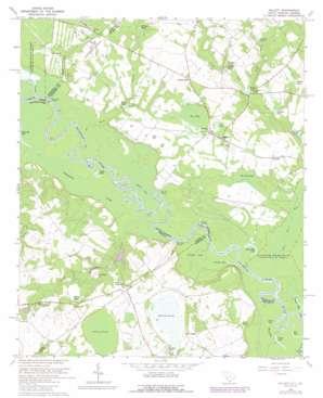 Millett topo map
