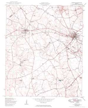 Wrens topo map