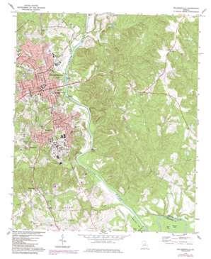 Milledgeville topo map