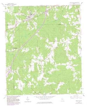 Grantville topo map