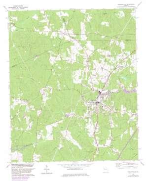 Hogansville topo map
