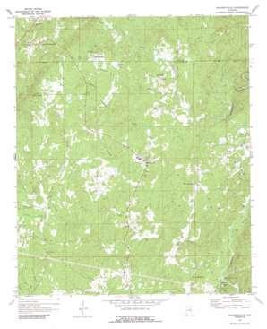 Hackneyville topo map