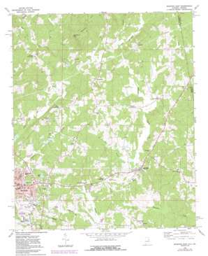 Roanoke East topo map