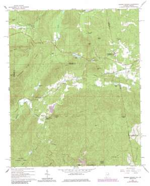 Borden Springs topo map